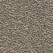 Miyuki Rocailles Perlen 3mm 4201 Duracoat galvanized Silver ca 22gr