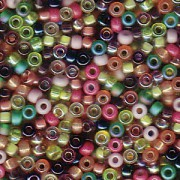Miyuki Rocailles Perlen 2mm Mix21 Lavender Garden ca 24 Gr.