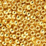 Miyuki Rocailles Perlen 4mm 0191 24 kt gold plated 20gr