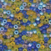 Miyuki Rocailles Perlen 4mm Mix06 Lagoon ca 20 Gr.