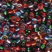 Miyuki Rocailles Perlen 3mm Mix38 Silverlined Rainbow ca 22gr