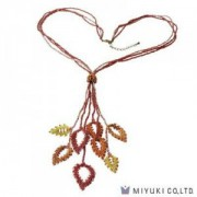 Miyuki Bead Jewelry Kit BFK 108 Persian Red Leaves Necklace