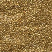Miyuki Delica Perlen 2,2mm DBM0031 metallic 24 Karat Gold plated 7,2 Gr.