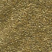 Miyuki Delica Perlen  1,6mm DB0034 metallic 24 Karat Hamilton Gold plated 5gr