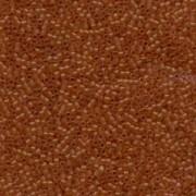 Miyuki Delica Perlen 1,6mm DB0777 Transparent Dyed matt dark Amber 5gr
