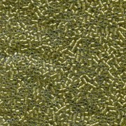 Miyuki Delica Perlen 1,6mm DB0908 Sparkling light Yellow lined Chartreuse 5gr