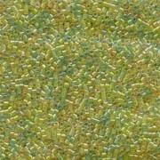 Miyuki Delica Perlen 1,6mm DB0983 Lined Amber-Peridot Mix 5gr