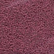 Miyuki Delica Perlen 1,6mm DB1376 matt dyed opaque Wine ca 5 gr