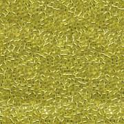Miyuki Delica Perlen 1,3mm DBS0145 transparent silverlined Yellow 5gr