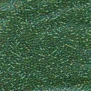 Miyuki Delica Perlen 1,3mm DBS0152 transparent rainbow Green 5gr