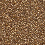 Miyuki Delica Perlen 1,6mm DB1832 Duracoat galvanized Gold ca 7,2 Gr.