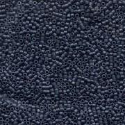 Miyuki Delica Perlen 2,2mm DBM0301 metallic matte Blue Grey 7,2 Gr.