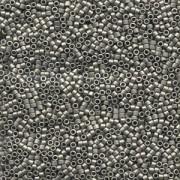 Miyuki Delica Perlen 1,3mm DBS0321 metallic matte Dark Nickel Silver 5gr