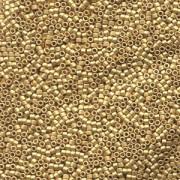 Miyuki Delica Perlen 1,3mm DBS0331 metallic matte 24 Karat Bright Gold plated 5gr