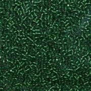 Miyuki Delica Perlen 2,2mm DBM0605 transparent silverlined Olive 7,2 Gr.