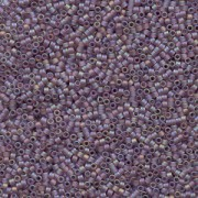 Miyuki Delica Perlen 1,6mm DB0857 transparent rainbow matte Dusky Lavender 5gr