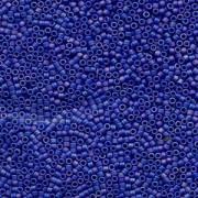 Miyuki Delica Perlen 2,2mm DBM0880 opaque matte rainbow Dark Blue 7,2 Gr.