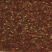 Miyuki Delica Perlen 1,6mm Hexcut DBC0121 transparent luster dark Topaz Gold 5gr
