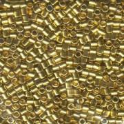 Miyuki Delica Perlen 3mm DBL0031 metallic 24 Karat Gold plated ca 6,8 Gr.