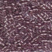 Miyuki Delica Perlen 3mm DBL0108 transparent luster Amethyst ca 6,8 Gr.