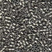 Miyuki Delica Perlen 3mm DBL0321 metallic matte Dark Nickel Silver ca 6,8 Gr.