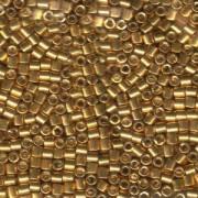 Miyuki Delica Perlen 3mm DBL0410 galvanized Gold ca 6,8 Gr.