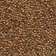 Miyuki Delica Perlen 2,2mm DBM1832 Duracoat galvanized Gold ca 7,2 Gr.