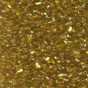 Miyuki Tropfen Perlen 3,4mm 0003 transparent silverlined Gold 10gr