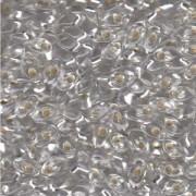 Miyuki Long Magatama Perlen 4x7mm ca8,5gr 0001 transparent silverlined Clear