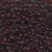 Miyuki Long Magatama Perlen 4x7mm ca8,5gr 0134F transparent matt Dark golden Brown
