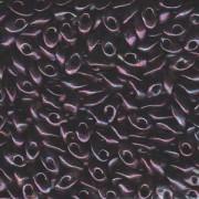 Miyuki Long Magatama Perlen 4x7mm ca8,5gr 0460 metallic Dark Wine