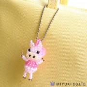 Miyuki Charm Set Piggy das Schweinchen