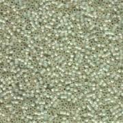 Miyuki Delica Perlen 1,6mm DB1453 silverlined opal  pale Lime ca 5gr