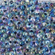 Miyuki Berry Beads 2,5x4,5mm BB0283 Crystal Steel inside colorlined rainbow ca 9gr