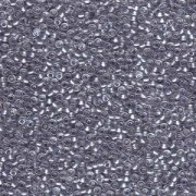 Miyuki Rocailles Perlen 2mm 0242 sparkle pewter lined Crystal 12gr