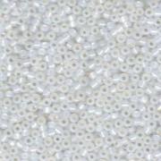 Miyuki Rocailles Perlen 3mm 0551 White Opal giltlined ca 13gr