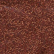 Miyuki Delica Perlen 1,6mm DB0601 transparent silverlined Reddish Orange 5gr