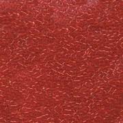 Miyuki Delica Perlen 1,6mm DB0704 transparent Orangish Red 5gr