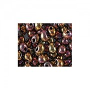 Miyuki Tropfen Perlen 3,4mm 0462 metallic rainbow Gold 10gr