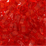 Miyuki Halb Tila Perlen 2,2x5mm transparent Red HTL0140 ca 7,8gr