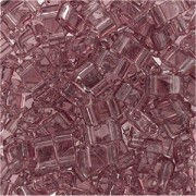 Miyuki Halb Tila Perlen 2,2x5mm smoky Amethyst HTL0142 ca 7,8gr