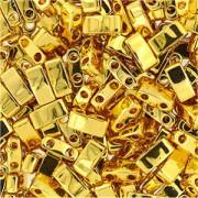 Miyuki Halb Tila Perlen 2,2x5mm Plated 24Karat Gold HTL0191 ca 7,8gr