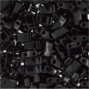 Miyuki Halb Tila Perlen 2,2x5mm Black HTL0401 ca 7,8gr