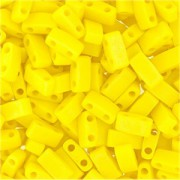 Miyuki Halb Tila Perlen 2,2x5mm opaque matt rainbow Yellow HTL0404FR ca 7,8gr