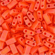 Miyuki Halb Tila Perlen 2,2x5mm opaque matt rainbow Orange HTL0406FR ca 7,8gr