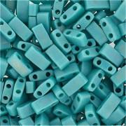 Miyuki Halb Tila Perlen 2,2x5mm opaque rainbow turquoise Green HTL0412FR ca 7,8gr