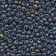 Miyuki Magatama Perlen 4mm 0401FR matte Black AB ca 24gr