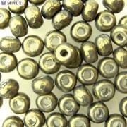 Miyuki Rocailles Baroque Perlen 4mm 3957 dark Olive ca 6,8gr
