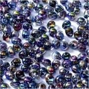 Miyuki Tropfen Perlen 3,4mm Czech Coating 4572 Crystal Magic Blue ca 10 gr