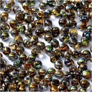 Miyuki Tropfen Perlen 3,4mm Czech Coating 55013 Crystal Magic Copper ca 10 gr
